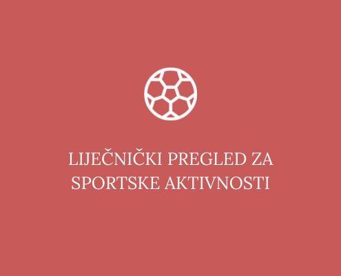 Liječnički pregled za sportske aktivnosti